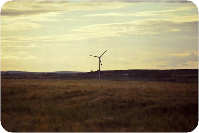 Wind turbine -  Aberdeenshire countryside Inverugie