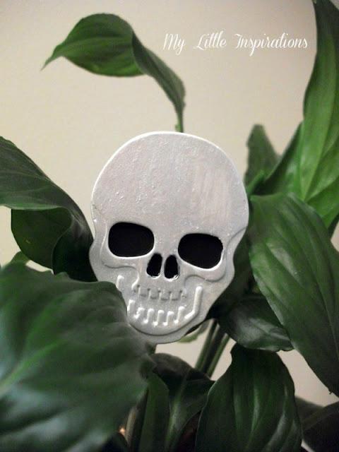 Decorazioni in gesso per Halloween - teschio - My Little Inspirations