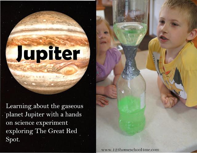 Jupiter Science Project for Solar System Unit for Kids