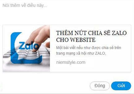 Thêm nút chia sẽ Zalo cho blogspot website