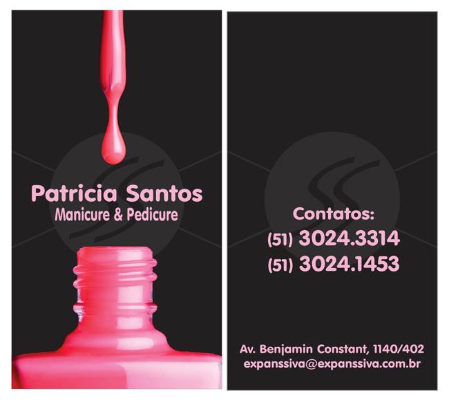 M2393 cartoes de visita manicure - Cartões de Visita para Manicure e Pedicure