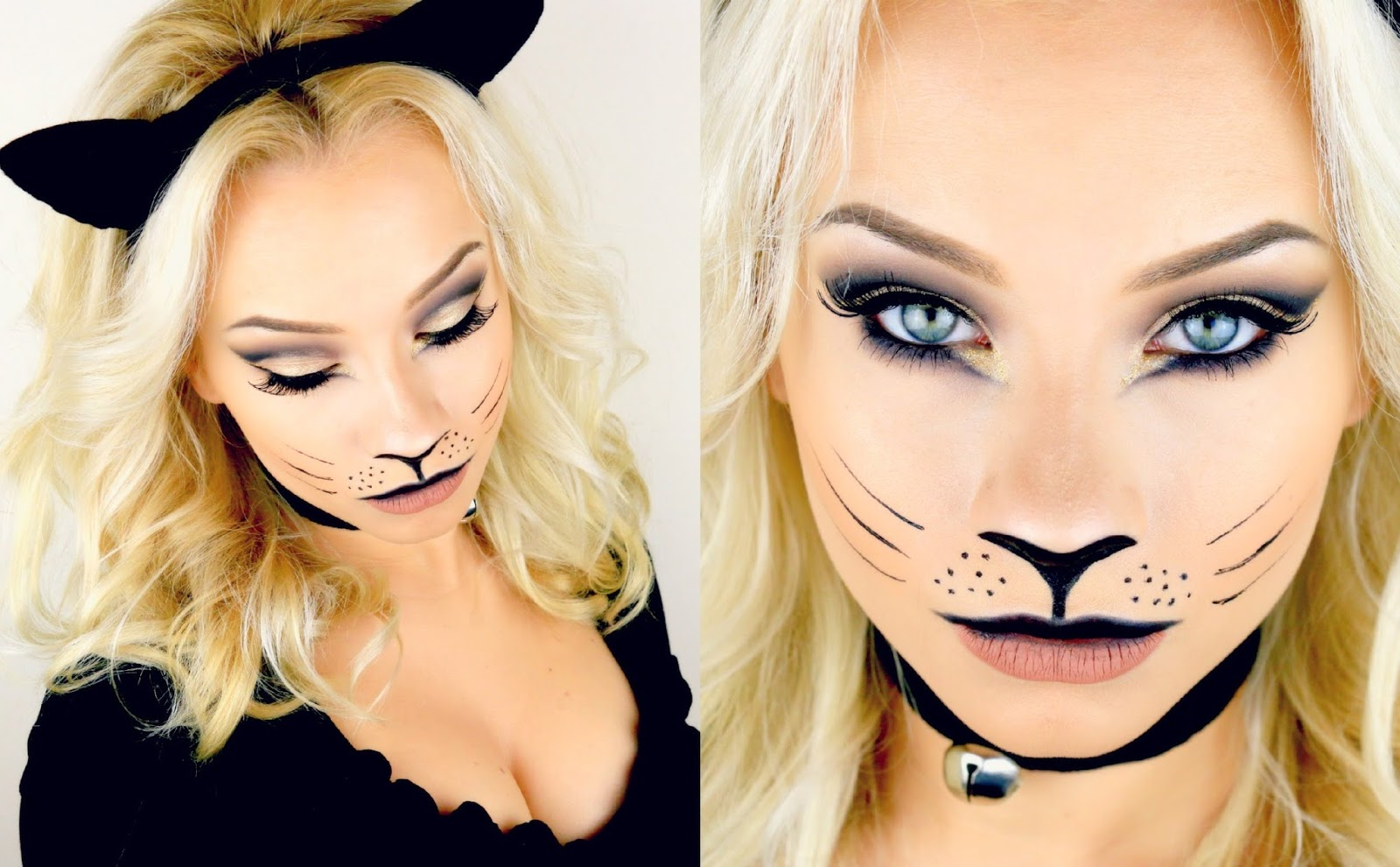 easy and cute cat halloween makeup ideas 2017 cheshire