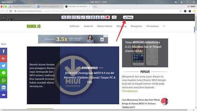 Screenshot Website Satu Halaman Penuh (Full Page)