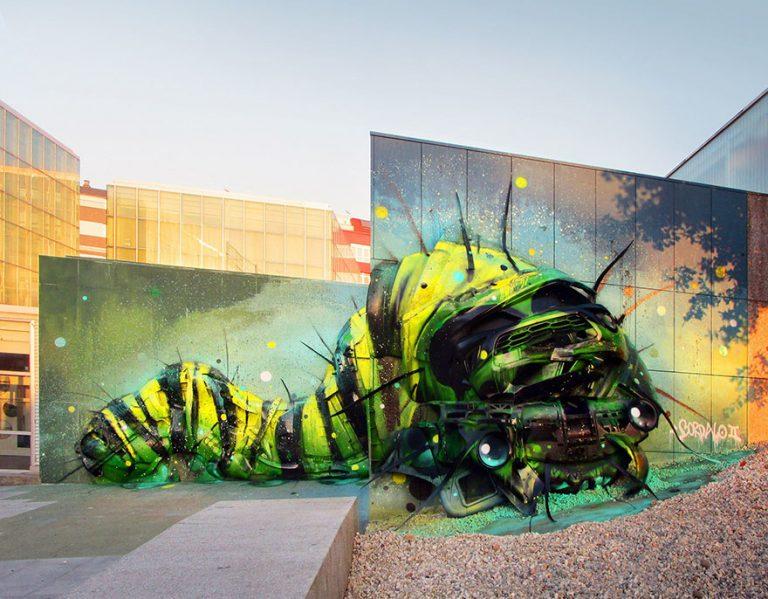 Street Artist Transforms Ordinary Junk Into Animals To Remind About Pollution - Trasherpillar