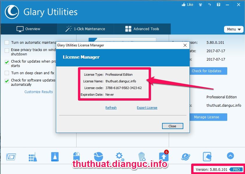 Download Glary Utilities Pro v5.80 full key – Phần mềm tối ưu hệ thống máy tính