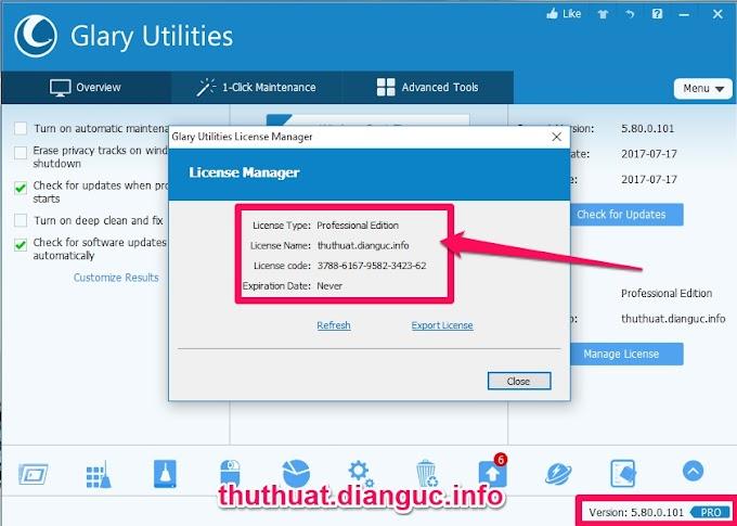 Download Glary Utilities Pro v5.80 full key - Phần mềm tối ưu hệ thống máy tính