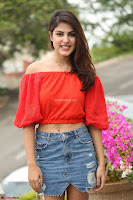 Rhea Chakraborty in Red Crop Top and Denim Shorts Spicy Pics ~  Exclusive 107.JPG