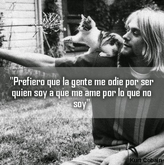 Imágenes Y Frases Bonitas Frases De Rockeros Kurt Cobain