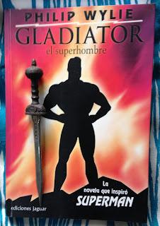 Portada del libro Gladiator, el superhombre, de Philip Wylie