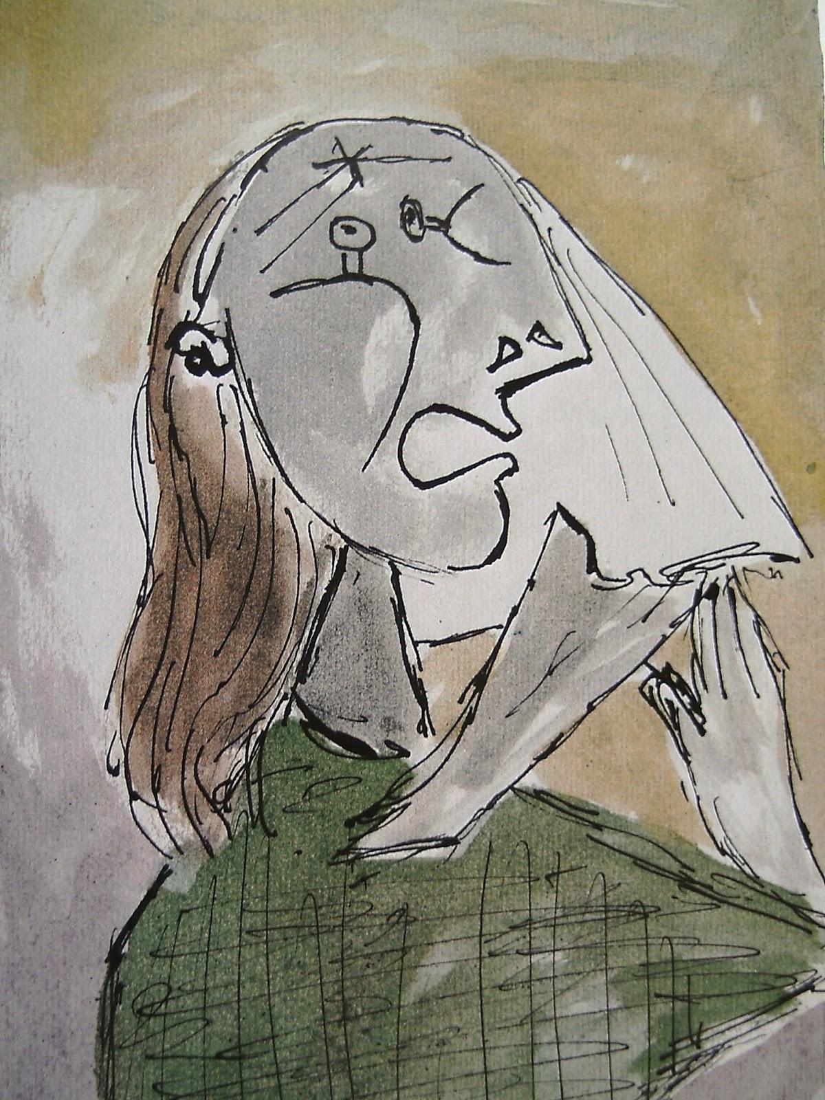 Todos contra el Arte: LA MUJER QUE LLORA - detalles de Picasso