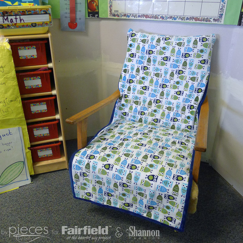 chair cover quilting office under 50 pieces by polly reversible cuddle it will work best for chairs with open arms so that you can tie the in place at back of seat