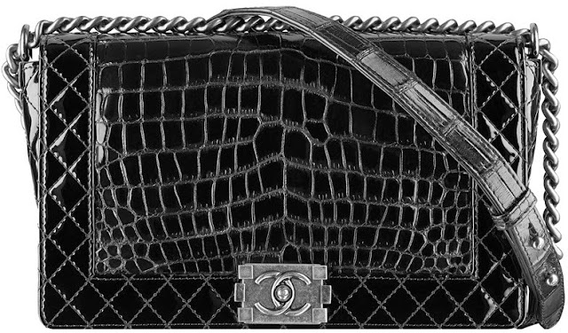 Chanel Boy  Flap Handbag in Alligator