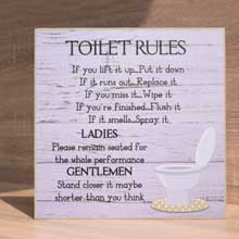 Toilet Rules Bathroom Decor, Wall Art in Port Harcourt, Nigeria