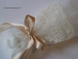μπομπονιέρα γάμου λευκή - nude
