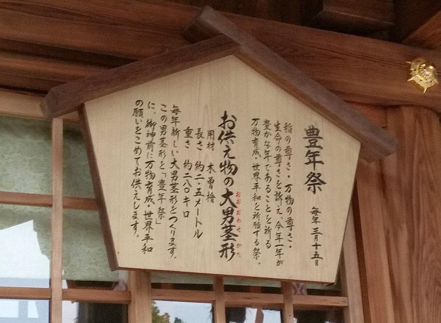 人文研究見聞録:田縣神社の豊年祭の説明書