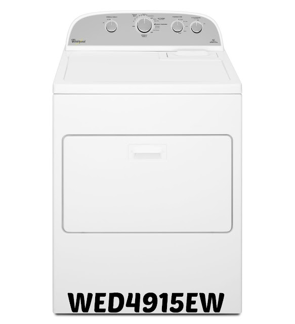 wed4915ew whirlpool dryer
