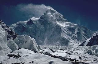 K2.It is the second-highest mountain on Earth, only after Mount Everest. It has a peak elevation of 8,611 m [28,251 feet]