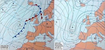 Mapa del Tiempo. Advección del Sur