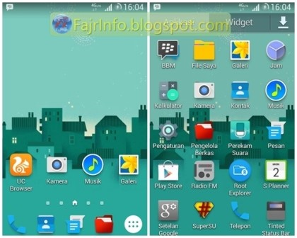 Mengubah Tampilan Galaxy Ace 3 S7270 Menjadi Galaxy S5