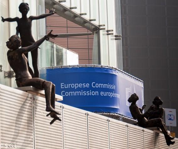 Detalle de estatuas de la zona europea de Bruselas