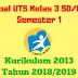 Soal UTS Kelas 3 SD/MI Semester 1 Kurikulum 2013 Tahun 2018/2019