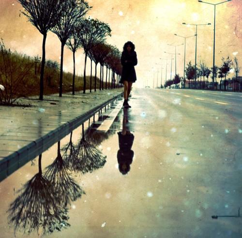sad alone girl in rain quotes - photo #5