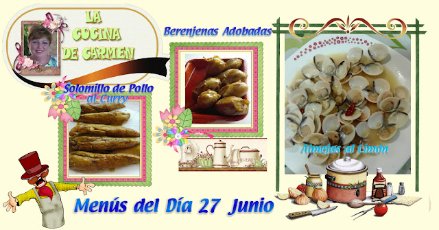 Menús del Día 27 Junio