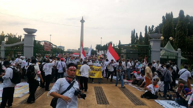 Aksi Nasional. Ribuan Pendamping Desa Dari Seluruh Indonesia