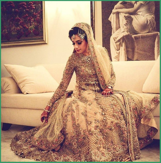 Pakistani Latest Sharara Designs For Wedding With Lehenga