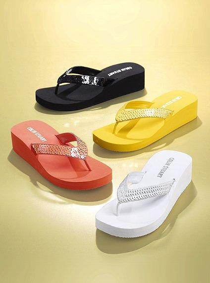 Victoria Secret Colin Stuart Sequin Flip-Flop  Wardrobe -7882