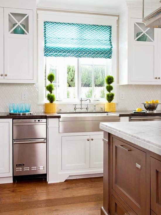 White Kitchens With Roman Shades Salt Lake City Utah
