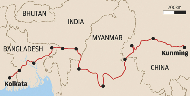 Image Attribute: BCIM Corridor Map / Source: SCMP