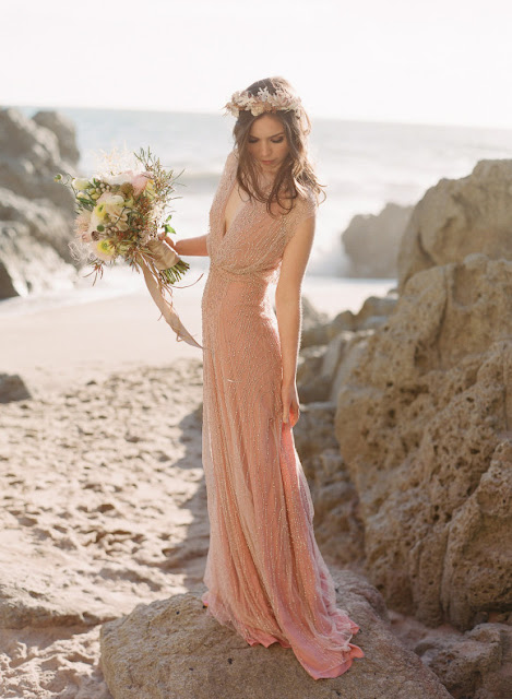 ELEGANT BLUSH PINK AND DUCK EGG BLUE BEACH WEDDING INSPIRATION
