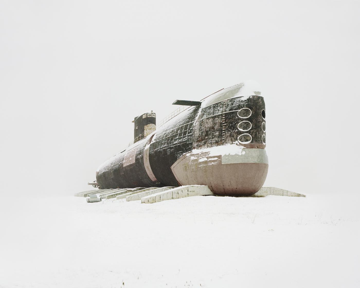 Submarino en la nieve