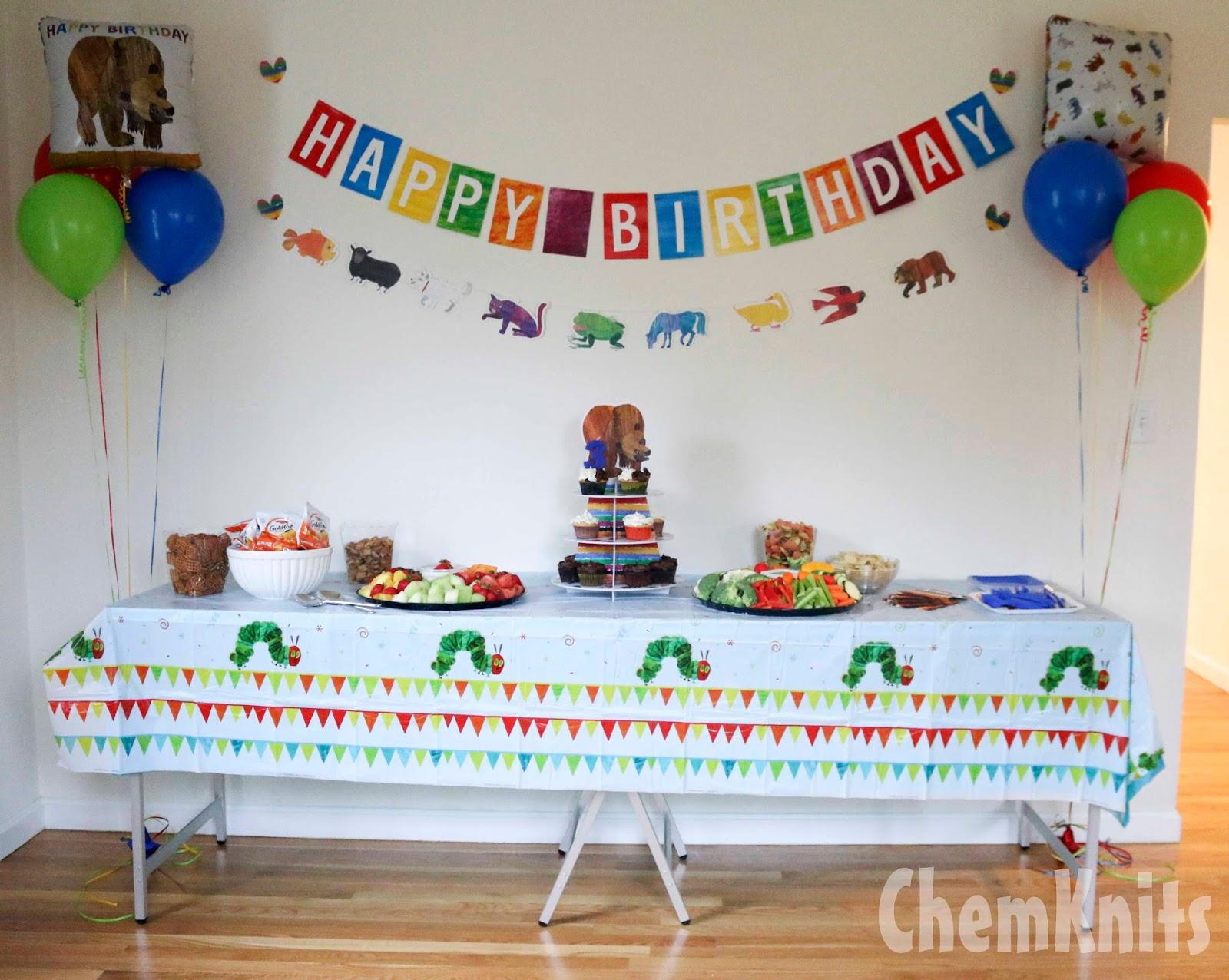 ChemKnits: An Eric Carle (Brown Bear, Brown Bear) Birthday Party!