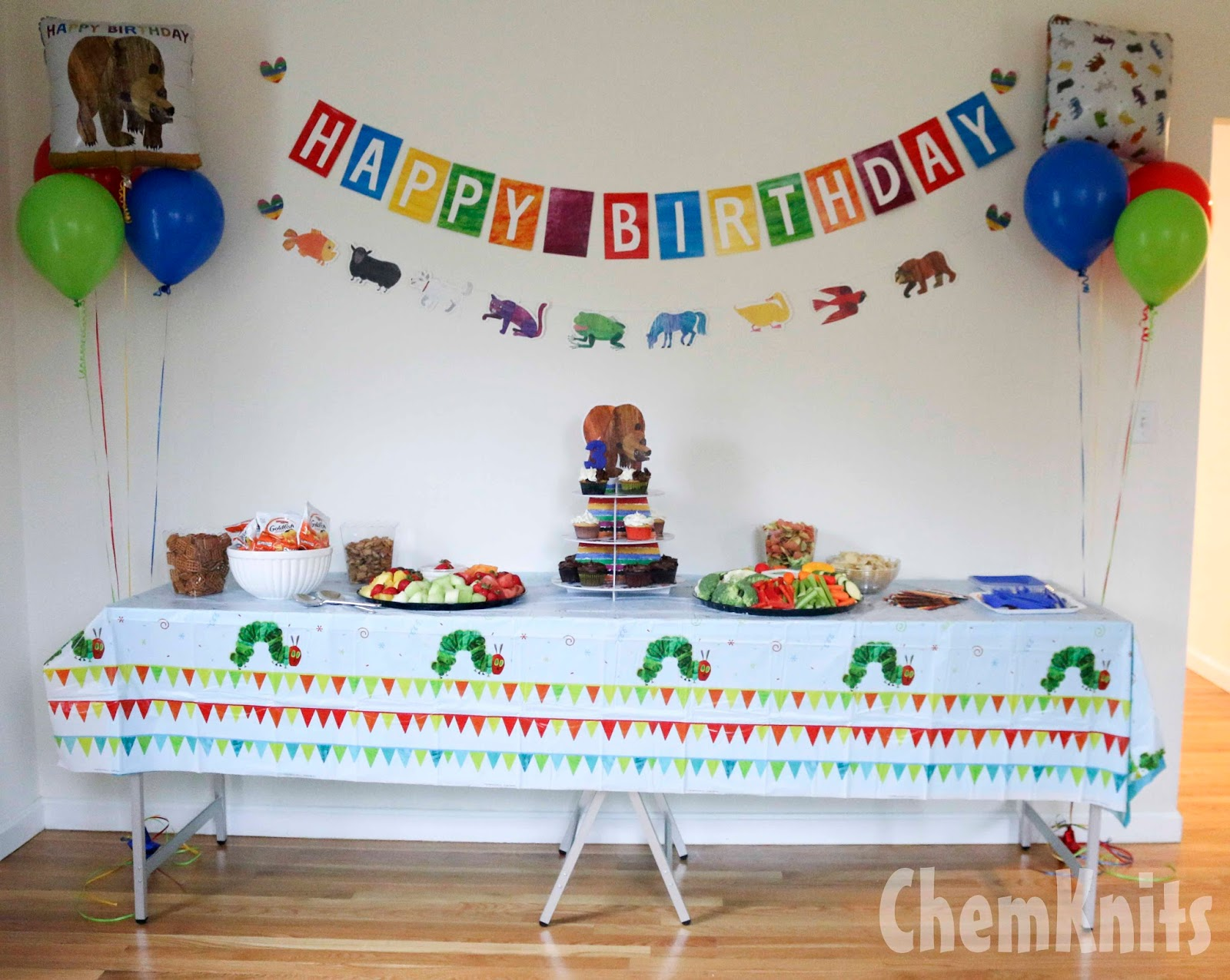 Chemknits An Eric Carle Brown Bear Brown Bear Birthday Party
