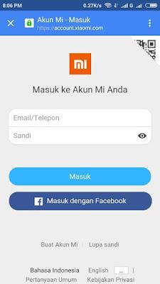 Cara Mudah Membuat Akun MI Smartphone Xiaomi