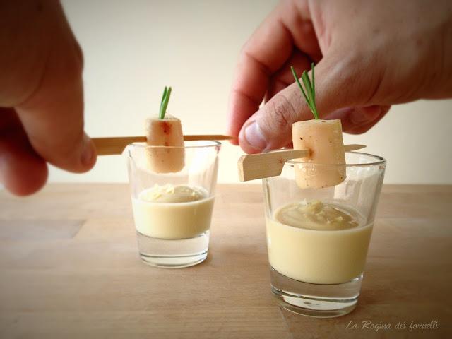 bicchierino di crema di ceci con polpo scottato