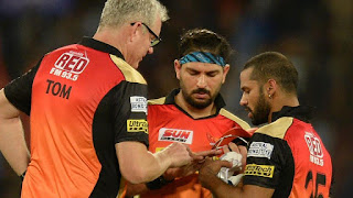 Sunrisers Hyderabad team's mentor vvs laxman hopes for left handed alrounder player yuvraj singh speedy recovery says he will be back soon.