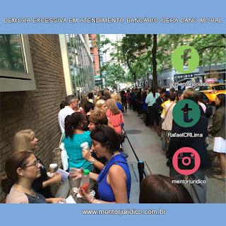 Indenização por espera excessiva em fila nas agências bancárias