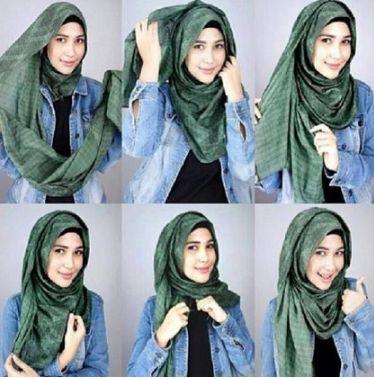 Model Gaya Hijab Pashmina