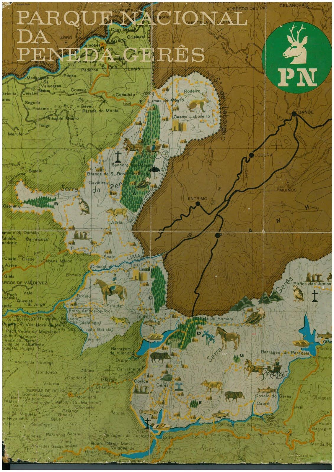 mapa da peneda do geres HOCOKA: Parque Nacional Peneda Gêres (P.N.P.G.)   Mapa mapa da peneda do geres