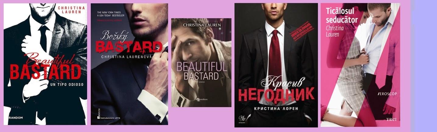 portadas de la novela erótica romántica Beautiful bastard, de Christina Lauren