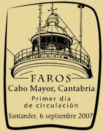 Matasellos PDC de Cabo Mayor Santander de la Hoja Bloque de Faros 2007