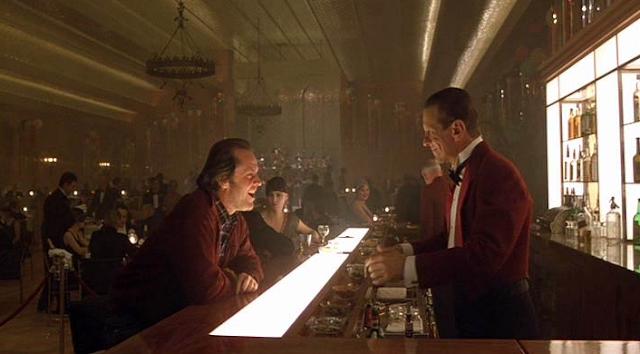Jack Nicholson et Joe Turkel dans Shining, de Stanley Kubrick (1980)