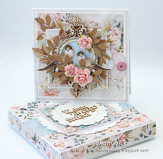 zestaw dla kobiety -kartka w pudełku