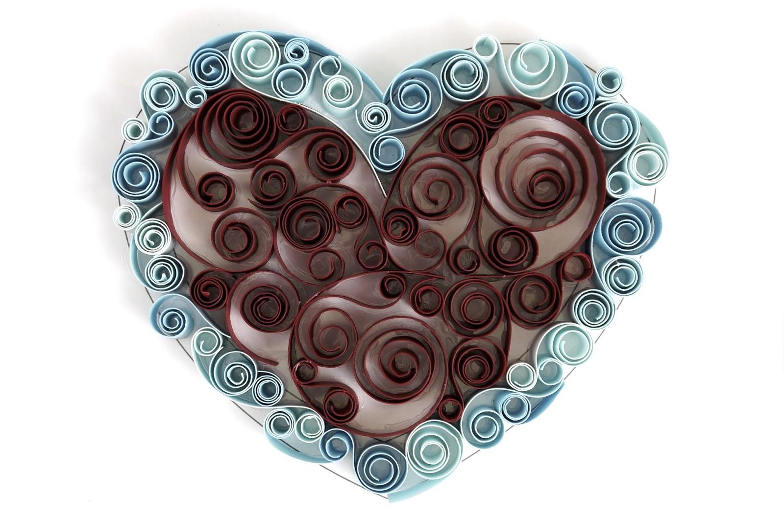 Открытки квиллинг сердечки, днем рождения