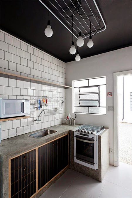 decoração, decoracao, vintage, industrial chique, industrial chic, hostel, cozinha