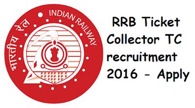Govt 2016: RRB Railway Ticket Collector TC recruitment 2016 - 2017