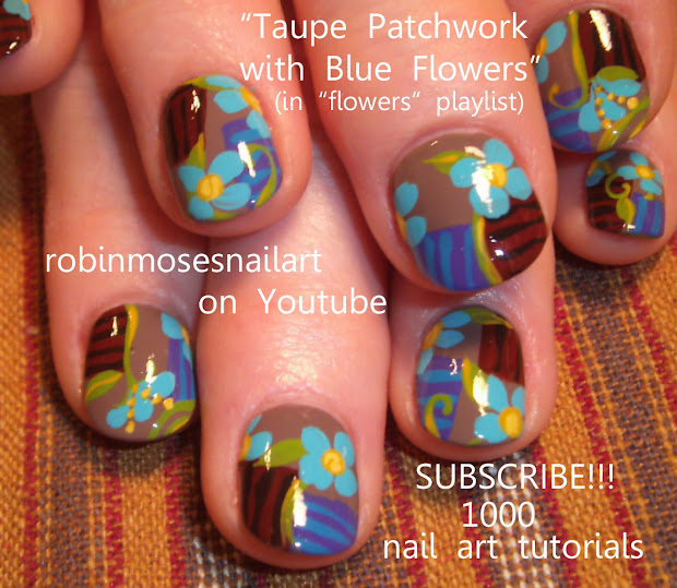 Robin Moses Nail Art Robinmosesnailart Pastel Palm Trees Country Patchwork Nails